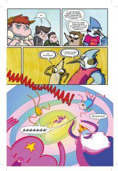 Комикс Время приключений / Обычный мультик источник Обычный мультик и Adventure Time