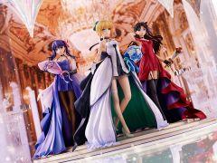 Фигурка Saber, Rin Tohsaka and Sakura Matou ~15th Celebration Dress Ver.~ Premium Box изображение 2