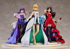 Фигурка Saber, Rin Tohsaka and Sakura Matou ~15th Celebration Dress Ver.~ Premium Box изображение 1