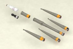 Модель 1/150 Plastic Model Soyuz Rocket & Transport Train изображение 4