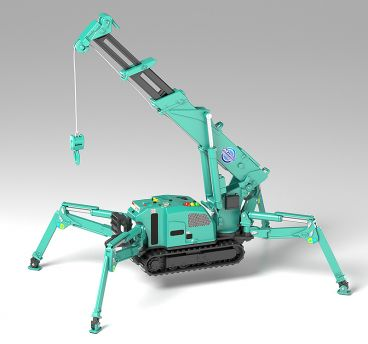 MODEROID MAEDA SEISAKUSHO Spider Crane (Green) модель