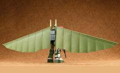 Модель COMBAT ARMORS MAX25: 1/72 Scale Soltic H8 Roundfacer Hang Glider Equipment Type источник Taiyou no Kiba Dagram