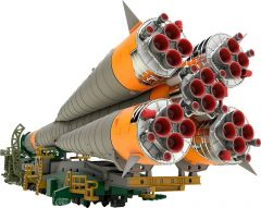 Модель MODEROID 1/150 Plastic Model Soyuz Rocket & Transport Train (2nd re-run) изображение 8
