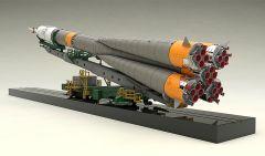 Модель MODEROID 1/150 Plastic Model Soyuz Rocket & Transport Train (2nd re-run) серия MODEROID