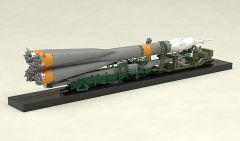 Модель MODEROID 1/150 Plastic Model Soyuz Rocket & Transport Train (2nd re-run) изображение 7