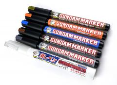 GUNDAM MARKER EXTRA THIN TYPE FOR PANEL LINES SET (RENEWAL) серия Gundam Marker