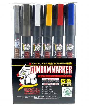 GUNDAM MARKER BASIC SET (6PCS) модель